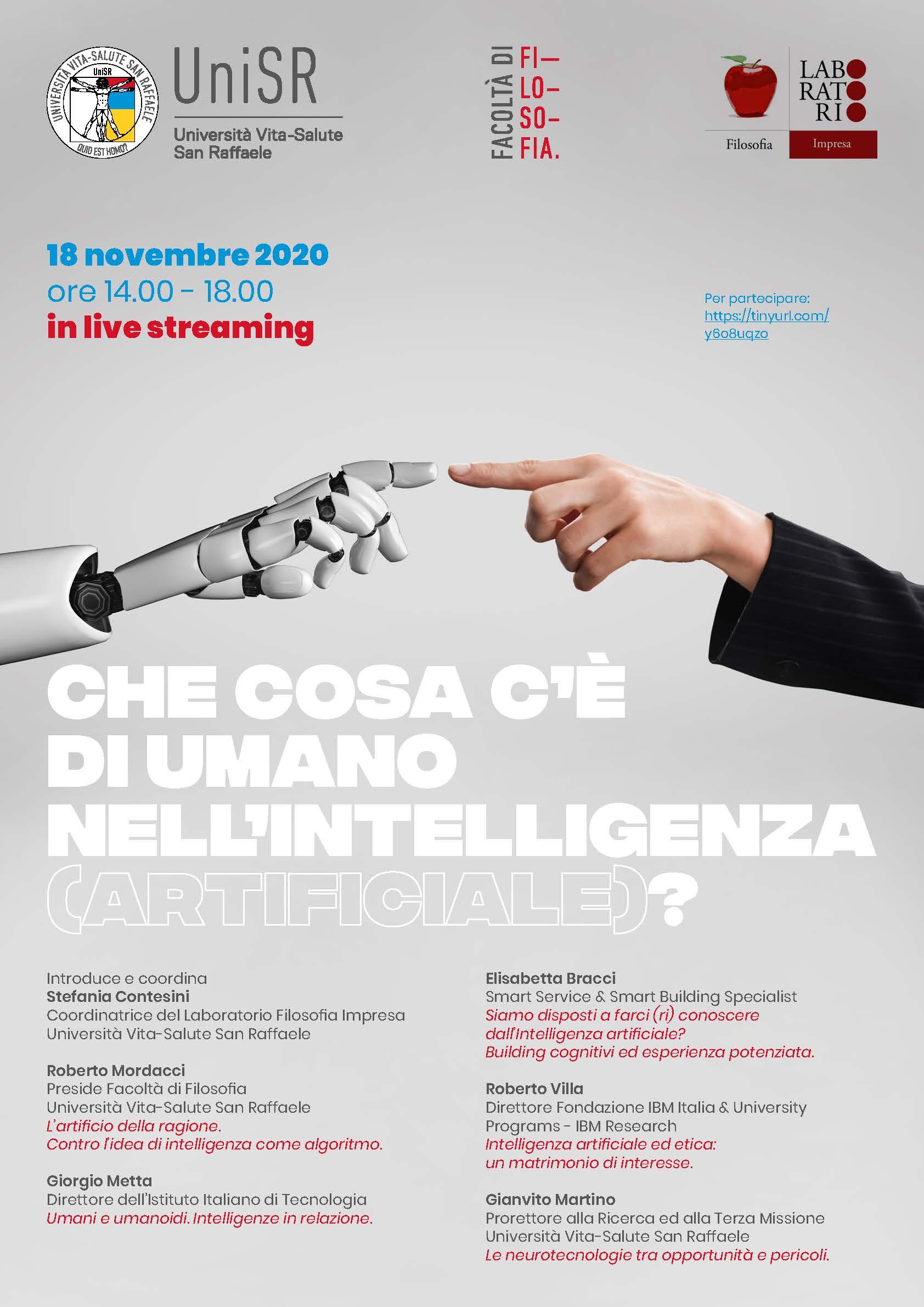 una mano robotica ne tocca una umana