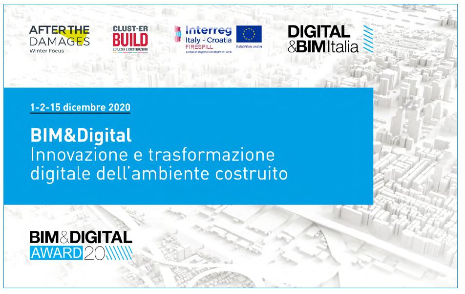 locandina dell'evento che riporta i loghi dei partecipanti e  la scritta: Bim & Digital